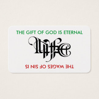 Life / Death Ambigram Card