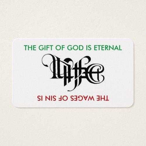 Life  Death Ambigram Card
