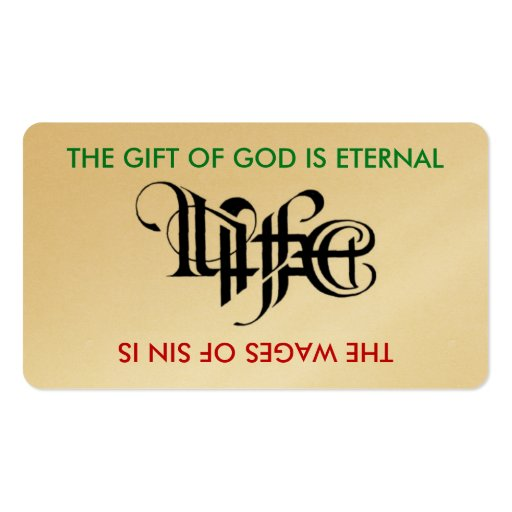 Life / Death Ambigram Card Double-Sided Standard Business Cards (Pack ...