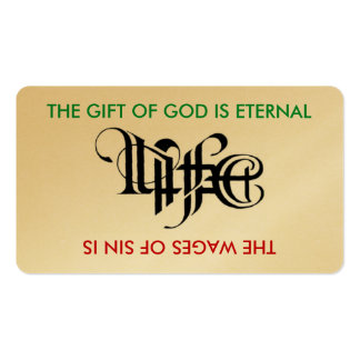 Life / Death Ambigram Card Double-Sided Standard Business Cards (Pack Of 100)