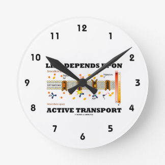 Life Depends Upon Active Transport (Na-K Pump) Round Clock