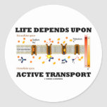 Life Depends Upon Active Transport (Na-K Pump) Stickers