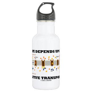 Life Depends Upon Active Transport (Na-K Pump) Water Bottle
