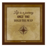 Life Direction Inspirational Spiritual Quote Poster
