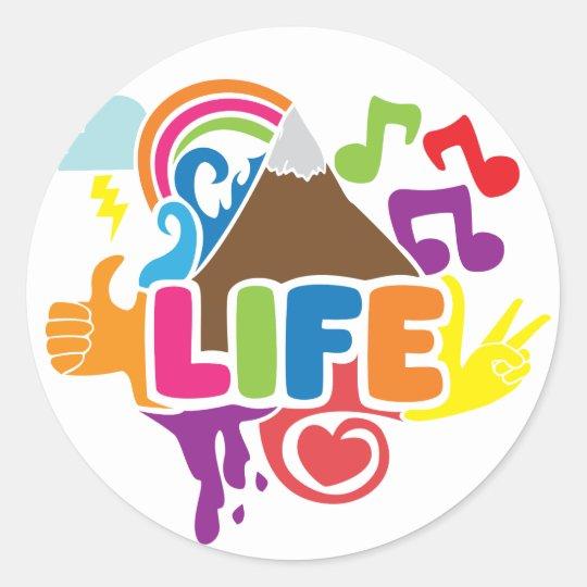Life Doodles Classic Round Sticker