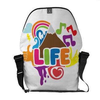 Life Doodles Messenger Bags