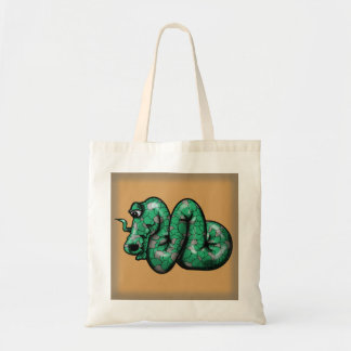 LIFE  DRAGON green Tote Bag