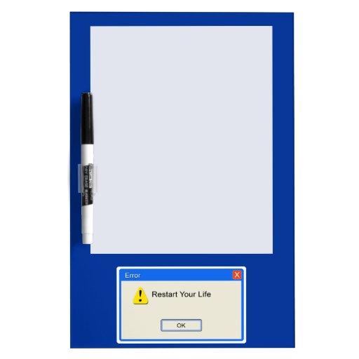 Life Error Dry-Erase Board
