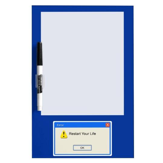 Life Error Dry Erase Board