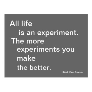 Life Experiment Post Card Quotable