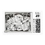 Life Feeds On Life Postage Stamp