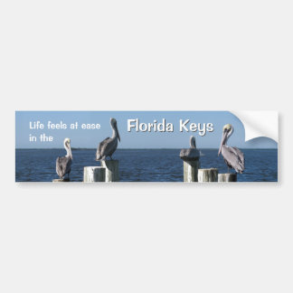 Life feels at ease in the Florida Keys Bumper Sticker