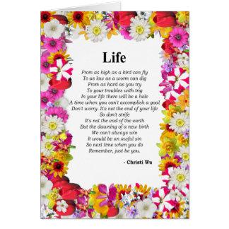 Life - Flower Frame Card