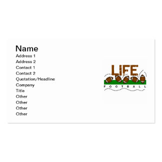 Life Football T-shirts and Gifts Double-Sided Standard Business Cards (Pack Of 100)