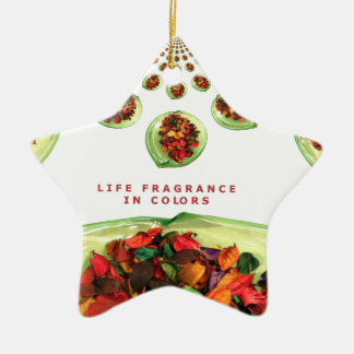 Life Fragrance in color.png Ceramic Ornament