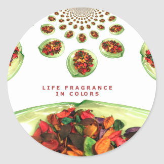 Life Fragrance in color.png Classic Round Sticker