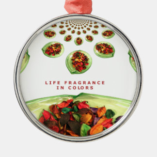 Life Fragrance in color.png Metal Ornament