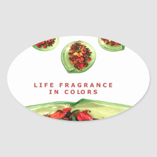 Life Fragrance in color.png Oval Sticker