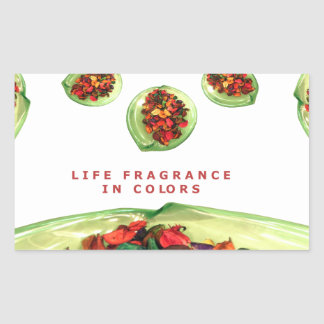 Life Fragrance in color.png Rectangular Sticker