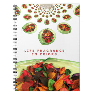 Life Fragrance in color.png Spiral Notebook
