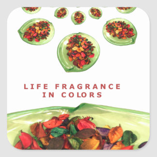 Life Fragrance in color.png Square Sticker