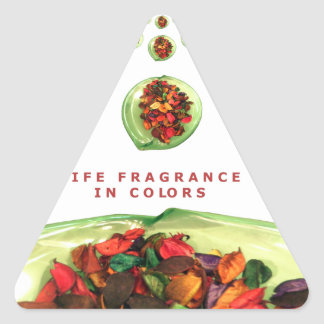 Life Fragrance in color.png Triangle Sticker