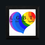 "Life Gets Better Together LGBT Pride Gift Box<br><div class=""desc"">Life gets better together.  Love is Love.  Embrace who you are.</div>"