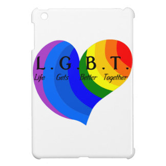 Life Gets Better Together LGBT Pride iPad Mini Cover