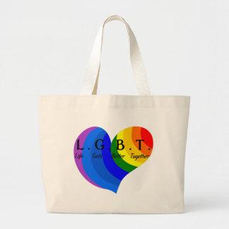 Life Gets Better Together LGBT Pride Large Tote Bag