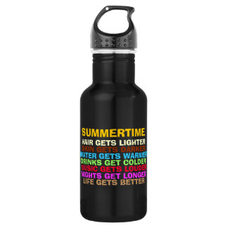 LIFE GETS BETTER WITH SUMMER STAINLESS STEEL WATER BOTTLE