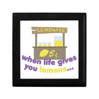 Life Gives Lemons Keepsake Box