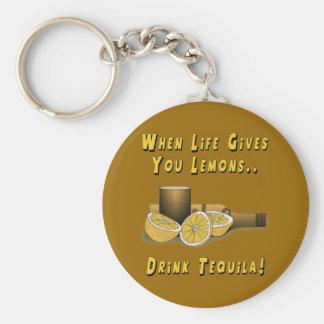 Life Gives You Lemons Basic Round Button Keychain