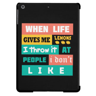 Life gives you lemons iPad air covers
