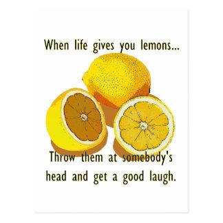 Life Gives You Lemons Humor Postcard