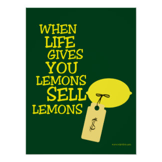 Life Gives You Lemons So Sell Them Poster
