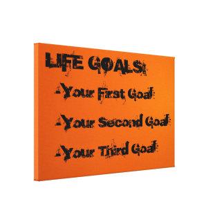 Life Goals Canvas Print