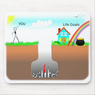Life Goals VS Trap Mouse Pad