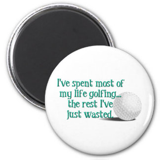 Life Golfing 2 Inch Round Magnet
