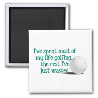 Life Golfing 2 Inch Square Magnet
