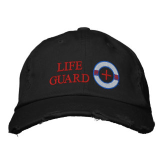 Life Guard Life Preserver Embroidery Design Embroidered Baseball Cap