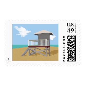 Life Guard Shack Postage Stamps