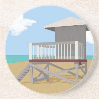 Life Guard Shack Sandstone Coaster
