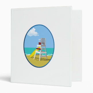 Life Guard Stand 3 Ring Binders