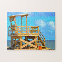 Life Guard Stand Florida. Jigsaw Puzzle