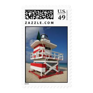 Life Guard Stand Florida Photography Postage Stamp