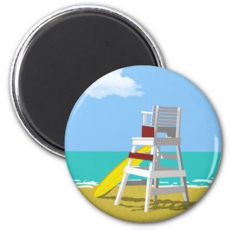 Life Guard Stand 2 Inch Round Magnet