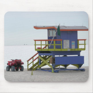 Life guard stand mouse pad