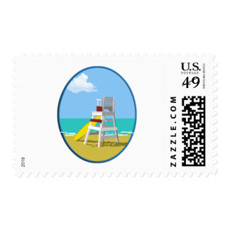 Life Guard Stand Stamp