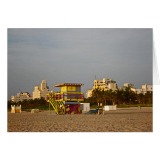 Life Guard Station in South Beach - Card