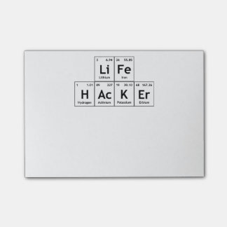 LiFe HAcKEr Chemistry Elements Periodic Table Word Post-it Notes